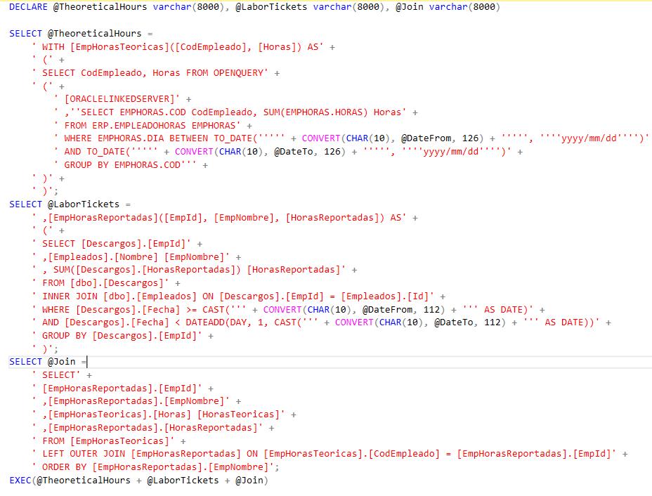 query con parámetros SQL Server